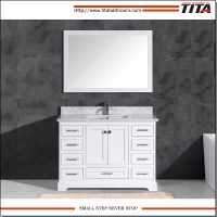 Floor Mounted White Lacquer 48 Inch Wide Bathroom Vanity T9311 with Mirror