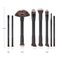 Makeup brushes 8PCS Black Wooden Cosmetic Makeup Brush Foundation Powder Eyeshadow Cosmetic Brushes