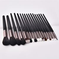 Cosmetic Brushes 17PCS Black Wooden Cosmetic Makeup Brush Foundation Powder Eyeshadow Makeup Brushes Set