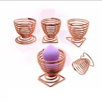 1PC Rosegold Makeup Sponge Holders Cosmetic Puff Display Stand Gourd Shape Sponge Egg Drying Holder Bracket Make up Puff Support