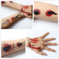 Waterproof Halloween Tattoo Stickers Body Face Vampire Temporary Tattoos Fake Tattoos Sticker