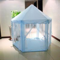 Portable Chiffon Hexagonal Princess Castle Play House Tent Lodge Children Outdoor Garden Toy Gifts Play House Tent
