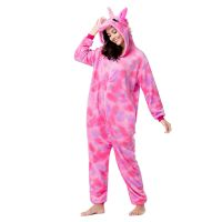 Wholesale Adult Pajamas Costume Adult Flannel Onesie Pajamas Kigurumi Pink Galaxy Unicorn Pajamas