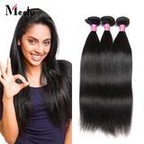 Meetu Brazilian Virgin Straight Human Hair 3 Bundles 8A Unprocessed