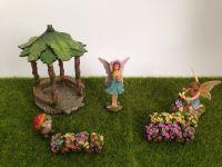 2018 New Design Fairy Garden Kits Fairy painter with flower bush