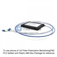1x4 Fiber Polarization Maintaining(PM) PLC Splitter Slow Axis with Plastic ABS Box Package