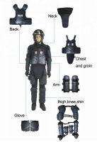 crowd control anti-riot suit full body armor suit