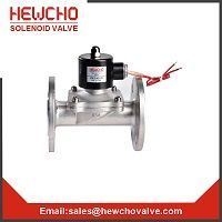 2W Water Direct Acting Solenoid Valve Stainless Steel Flange