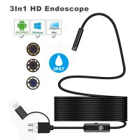 Y102 Android Endoscope Camera 3 in1 Endoscope USB Android 7mm 5M