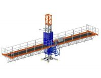 Flexible And Stable Construction Mast Climbing Working Platform
