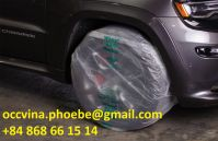 Disposable Plastic Car Wheel Covers