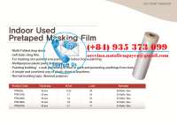 Indoor Paper Pretaped Masking Film with Dispenser
