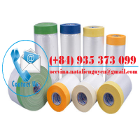 Indoor Paper Pretaped Masking Film