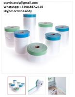 Outdoor used Blue Paper pre-taped masking film