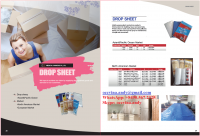 PE Dust sheet / drop sheet / drop cloth / protection film
