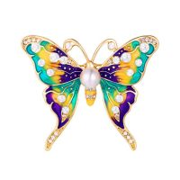Enamel pins uk vintage enamel butterfly pins with rhinestone