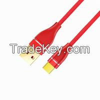Popular Type USB 2.0 A to USB 2.0 Type C Fabric Braided Cable with Metal Heads