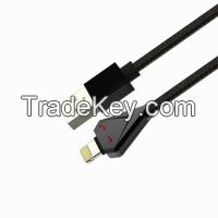 Fashionable USB 2.0 A Male to Lightning Male Cable with Fabric braided