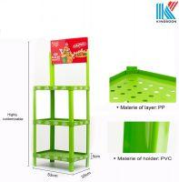 Competitive price plastic supermarket pop display shelf rack for varity of food