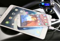 Fastly Car FM Transmitter Bluetooth USB Charger for Mobile Phone