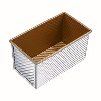 450g Corrugated seamless bread tin with lid for commercial oven