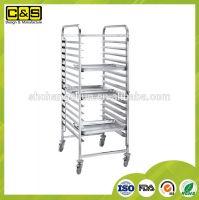 16 Sheets 600*400 Bakery Bread Cake Baking Tray Trolley Cake Carts