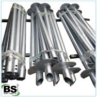 Double Blades Round Shaft Screw Piers