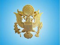 Dark Golden Alloyed Metal Police Badge