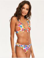 BEACH COUTURE Printed Molded Bikini Top