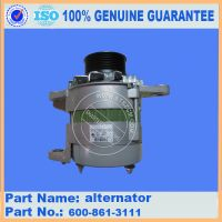 sell excavator spare parts, PC300-7 6D114 alternator 600-861-3111(Email:bj-*****)