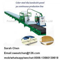 Pu roof and wall panel sheet sandwich panel continuous foam production line
