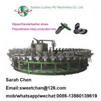 PU DIP sandal, slippers and flip flops shoes injection rotary machine