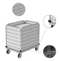 Wagen ML für Wäscherei mit gefedertem Boden (11.1320.1)