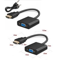 HDMI to VGA converter adapter + 3.5 mm audio jack full HD 1080P black N3