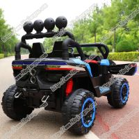 popular kids car fashion model double drive music cool light children electric toy car