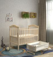 quality material wooden swing and storage baby cot