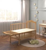high performance wood steam beech swing and storage baby cot