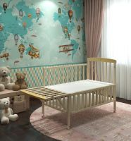 good performance high quality material wooden swing and storage baby cot