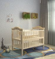 high quality material wooden swing and storage baby cot