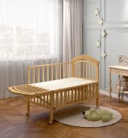 high quality wooden with swing cot and storage plate baby cot