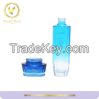 100ml Coloured Glass Bottle face Lotion Cosmetic Bottle With Lotion Pump