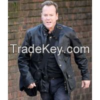24 Live Another Day Jack Bauer Black Leather Jacket