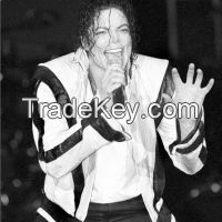 MICHAEL JACKSON WHITE BEAT IT LEATHER JACKET