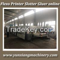 flexo printer slotter die cutter machine