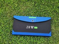 28W Portable Dual USB Port Solar Panel Source Power Solar Charger