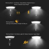2W Motion Sensor Wall Lights New 360 Degree Illumination Solar Lights