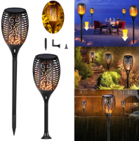 Garden Solar powered LED Flame Lamp 96LED Lawn Flame Flickering Torch Lights