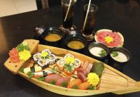 Fancy Wooden Boat For Displaying Food/Sushi boat