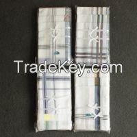 good quality wholesale cheap cotton stripe men's handkerchief