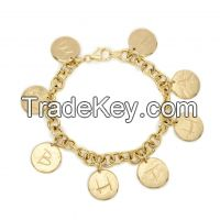 Customized Letter Charm Bracelet